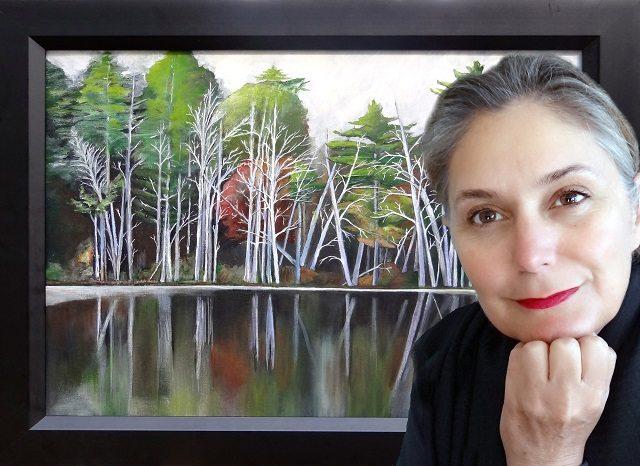 Karin Hougaard schilderij bomen